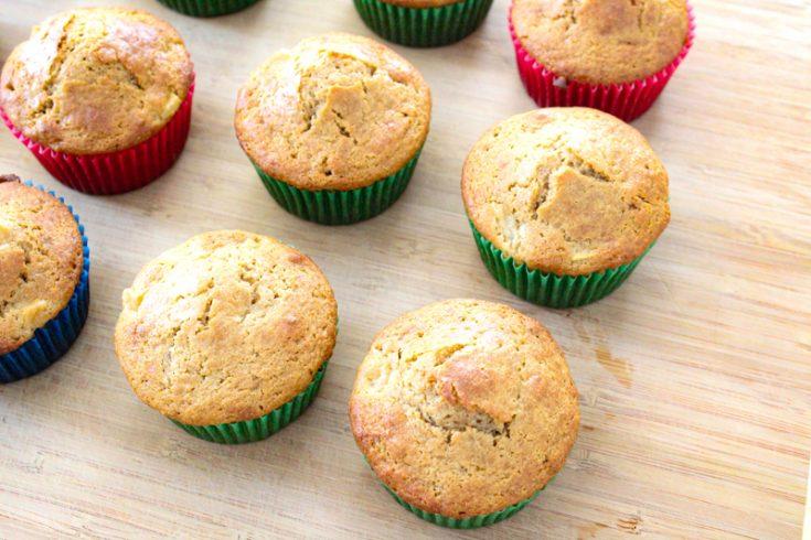 Whole Grain Einkorn Apple Cinnamon Muffins