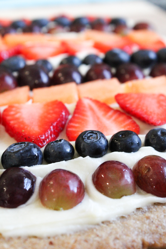 dairy and egg free sourdough fruit pizza