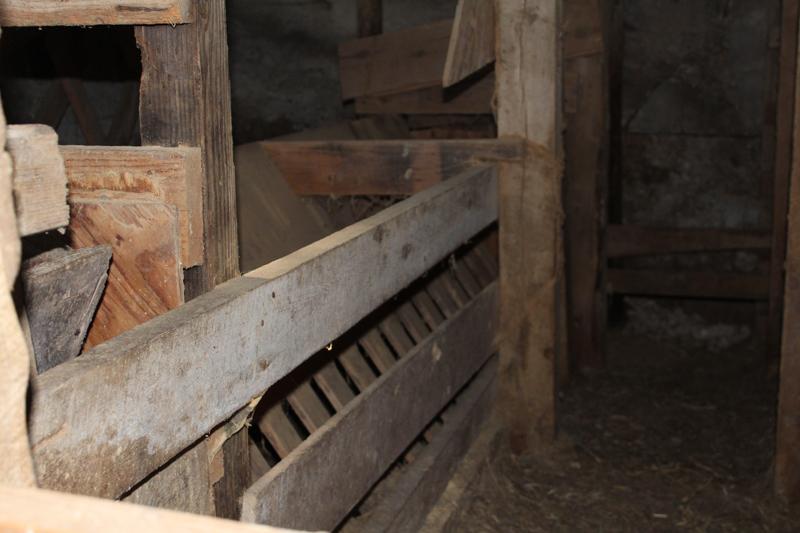 feeder built into the barn