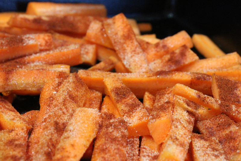 carrot slices covered with seasonings